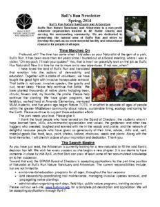 BRNSA Newsletter - Spring 2014