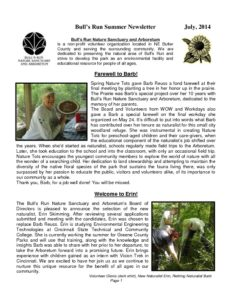 BRNSA Newsletter - Summer 2014