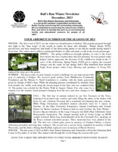 BRNSA Newsletter - Winter 2013