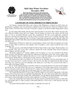 BRNSA Newsletter - Winter 2014