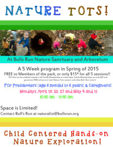 Nature Tots Flyer - Spring 2015